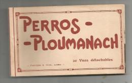 Cp , 22 , PERROS-PLOUMANACH , Ed : Bruel , CARNET DE 17 CARTES - Perros-Guirec