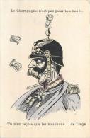 GUERRE 1914 CARICATURE FRANCAISE ANTI ALLEMANDE LE CHAMPAGNE N'EST PAS ...CARTOON WAR VATERLANSLIEBE KRIEG PROPAGANDA - Guerre 1914-18