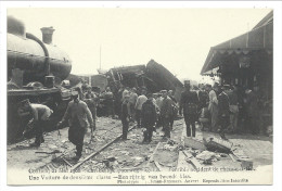 CPA - KONTICH - CONTICH - 21 Mai 1908 - Accident Chemin De Fer - Voiture 2me Classe - Schrikkelijk Spoorweg Ongeluk  // - Kontich
