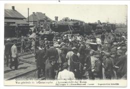 CPA - KONTICH - CONTICH - 21 Mai 1908 - Accident Chemin De Fer - Vue Générale  - Igemeen Zicht Der Ramp - Train // - Kontich