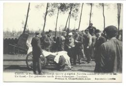 CPA - KONTICH - CONTICH 1908 - Accident Chemin De Fer - Un Blessé - Een Gekwetste Van De Trein Antwerpen -Turnhout  // - Kontich