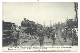 CPA - KONTICH - CONTICH 1908 - Accident Chemin De Fer - Vue Du Train Tamponné - Zicht Van De Vernielde Trein  // - Kontich