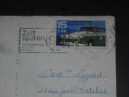 LETTRE ALLEMAGNE DEUTSCHLAND GERMANY RDA DDR AVEC YT 1294 - VOITURE RADIO POLICE - BERLIN - - Briefe U. Dokumente
