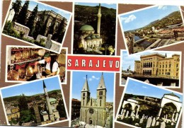 SARAJEVO Multivues Recto Verso Beau Timbre Jugoslavia Avion - Bosnia And Herzegovina