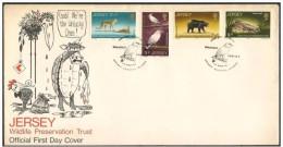 Jersey. FDC. Conservazione Della Fauna Selvatica, Wildlife Preservation Trust, Préservation De La Faune - Stamps