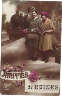 AMITIES DE RUINES (DOS SCANNE) - COUPLE - LOCOMOTIVE - TRAIN - Frankreich