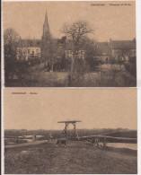 BOUSBECQUE  1914/18 Totalansicht Mit Kirche  -- Brücke Vache   2 CPA !!  Re762 - Autres Communes