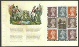GB 2015 MILITARY BATTLE OF WATERLOO PRESTIGE BOOKLET MACHIN DEFINITIVE SETENENT PANE MNH - 1952-.... (Elisabetta II)