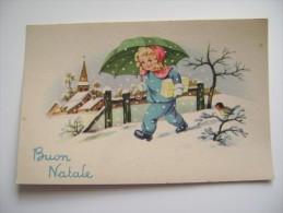 BUON NATALE  NOEL      POSTCARD UNUSED    CONDITION PHOTO FORMATO PICCOLO - Christmas