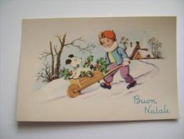 BUON NATALE  NOEL      POSTCARD UNUSED    CONDITION PHOTO FORMATO PICCOLO - Altri