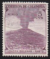 COLUMBIA - Scott # C239 Galeras Volcano / Used Stamp - Vulkane