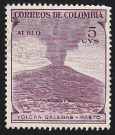 COLUMBIA - Scott # C239 Galeras Volcano / Used Stamp - Volcanos
