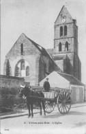77  VILLIERS  SOUS  GREZ L'église Attelage     2 Scans - Autres Communes