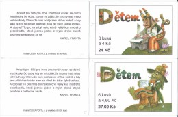 Czech Republic - Booklet ( Carnet ) 1998 Booklets ZSL 5-6 Czech Republic For Children.MNH - Czech Republic