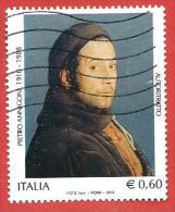 ITALIA REPUBBLICA USATO - 2010 - Centenario Della Nascita Di Pietro Annigoni - € 0,60 - S. 3201 - 6. 1946-.. Repubblica