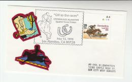 1993 Los Alamitos  USA  LOS ALAMITOS HORSE RACE  EVENT  COVER Horses Stamps Sport Racing - Horses