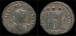 Licinius II AE Follis Camp Gate - 7. El Imperio Christiano (307 / 363)