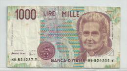 RB - Italia - 1000 Lire - 1990 - Lot Nr. 89 - 1000 Lire