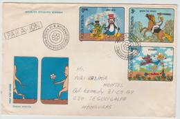 ROMANIA COVER TO HONDURAS COMIC TEMATIC VERY NICE 1994 - Rhinocéros