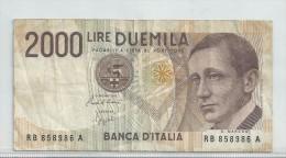 RB - Italia - 2000 Lire - 1990 - Lot Nr. 62 - [ 2] 1946-… : République