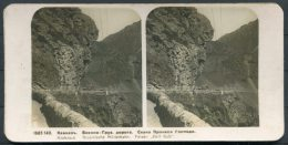 Photo Stereoscope Kaukasus Grusinische Militabahn Military Railway Russia - Stereoscopes - Side-by-side Viewers