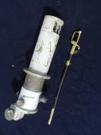 RARE ENORMES JUMELLES - LUNETTE DOUBLE S.OM. PARIS - 10 X  55 - Datée 1937 - BRONZE 70 KILOS !! - Optics