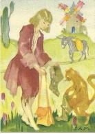 """Image MENIER N° 15 Par Jean Adrien MERCIER - Album """"Il était Une Fois"""" - Le Chat Botté - 1953 - TBE - Trade Cards"""
