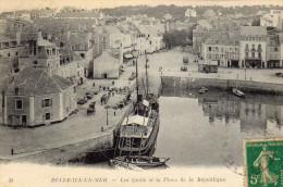 PORT DE PALAIS = RUE DES ORMEAUX ET PLACE DE LA PÉPUBLIQUE ( 2 CARTES ) - Belle Ile En Mer