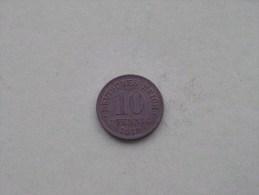 1919 - 10 PFENNIG / KM 26 ( For Grade , Please See Photo ) ! - [ 2] 1871-1918 : Empire Allemand