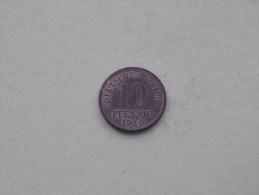 1920 - 10 PFENNIG / KM 26 ( For Grade , Please See Photo ) ! - [ 2] 1871-1918 : Empire Allemand