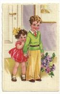 Deux Enfants Et Bouquet De Lilas - Fête Des Mères