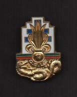 Insigne: 13 D.B.L.E. 1/2 Brigade De Marche De La Légion Etrangère. Email, Dos Lisse, Attache. J. BALME. SAUMUR. - Army