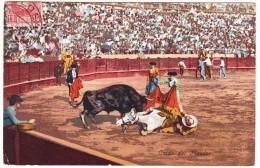 'Caida Del Picador' - Tolosa (Guipuzcoa) - 1909 - Espana - Corrida