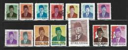 ID- INDONESIEN - KLEINES LOS - SUHARTO - 14 MARKEN  -  GESTEMPLTE MARKEN - Indonésie
