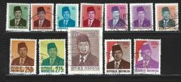 ID- INDONESIEN - KLEINES LOS - SUHARTO - 12 MARKEN  -  GESTEMPLTE MARKEN - Indonésie