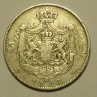 Roumanie Romania Rumänien 5 Lei 1883 Argent / Silver # 1 - Roumanie