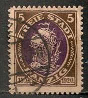 Timbres - Allemagne - Etranger - Dantzig - 1921 - 5 -
