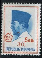 INDONÉSIE 448**  30s Sur 30r  Rose Et Bleu  Président Sukarno - Indonesia