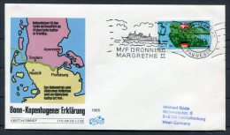 1985 Denmark Germany Rodby - Fehmern Paquebot M/F Dronning Margrethe 2 Ship Cover - Danimarca