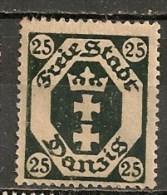 Timbres - Allemagne - Etranger - Dantzig - 1921 - 25 -