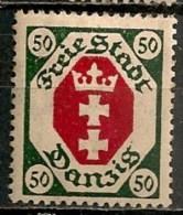 Timbres - Allemagne - Etranger - Dantzig - 1921 - 50 -