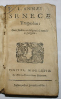 "ITALIA 1677 - ""SENECAE TRAGEDIAE"" L. ANNAEI - Libri, Riviste, Fumetti"