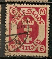 Timbres - Allemagne - Etranger - Dantzig - 1921 - 6 M. -