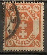 Timbres - Allemagne - Etranger - Dantzig - 1921 - 10 M. -