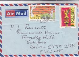 1978 Air Mail GHANA COVER Stamps  CHRISTMAS MUSIC MACE Religion - Ghana (1957-...)