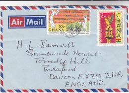 1978 Air Mail GHANA COVER Stamps  CHRISTMAS MUSIC MACE - Ghana (1957-...)