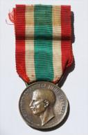 ITALIA - MEDAGLIA IN BRONZO UNITA´ D´ITALIA, VITTORIO EMANUELE III° - 1848-1918 - 1914-18