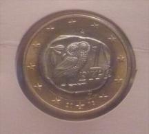 GRECIA-GREECE 1 EURO 2002 LETTER S PICK KM187S UNC - Grèce