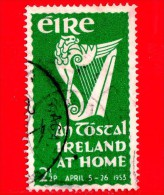 IRLANDA - EIRE - Usato - 1953 - Festival Nazionale An Tostal - Musica - Strumenti Musicali - Arpa - Harp - 2 ½ - 1949-... Repubblica D'Irlanda