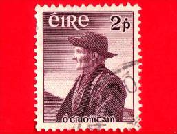 IRLANDA - EIRE - Usato - 1957 - 100 Anni Della Nascita Di Thomas O'Crohan (1856-1937), Pescatore - 2 - 1949-... Repubblica D'Irlanda